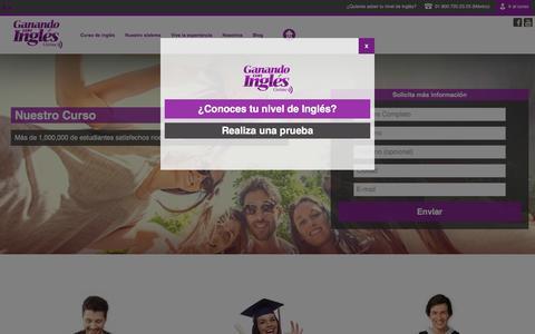Screenshot of Home Page ganandoconingles.com - Ganando Con Inglés Online: el mejor curso de inglés online - captured Jan. 17, 2016