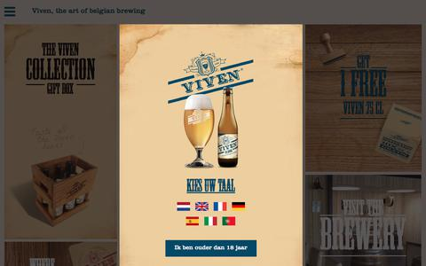 Screenshot of Home Page viven.be - Viven - captured Jan. 30, 2018
