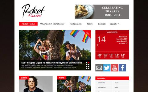 Screenshot of Home Page pocketmanchester.com - Pocket Home - - captured Oct. 3, 2014