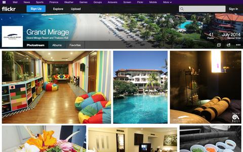 Screenshot of Flickr Page flickr.com - Flickr: Grand Mirage Resort and Thalasso Bali's Photostream - captured Oct. 22, 2014