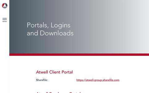 Screenshot of Login Page atwell-group.com - Login - Atwell Group : Atwell Group - captured Oct. 4, 2018