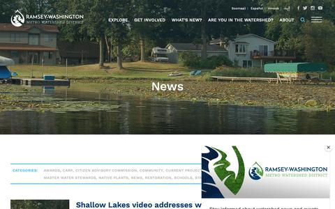 Screenshot of Press Page rwmwd.org - News Archives - Ramsey-Washington Metro Watershed District - captured Oct. 18, 2018