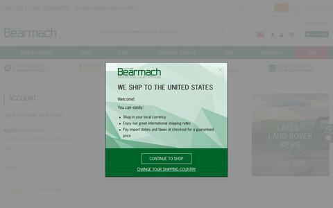 Screenshot of Login Page bearmach.com - Customer Login - Bearmach - captured Aug. 1, 2018