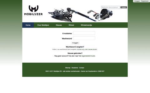 Screenshot of Login Page mobilijzer.nl - Mobilijzer - captured Nov. 16, 2017