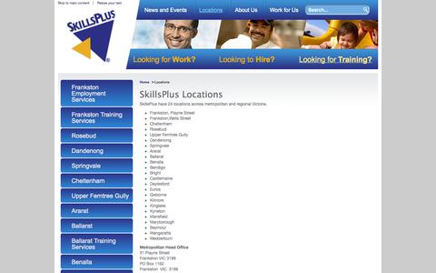 Screenshot of Contact Page Locations Page skillsplus.com.au - SkillsPlus - Locations - captured Oct. 26, 2014