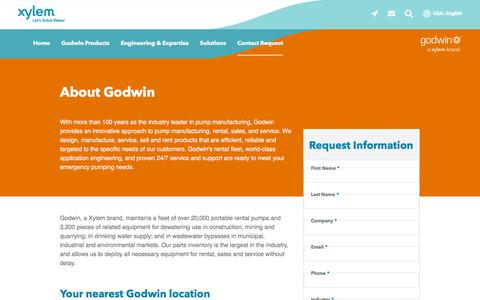 Screenshot of About Page xylem.com - About Godwin    Xylem US - captured Nov. 9, 2019