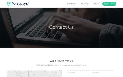 Contact us | Perceptyx, Inc.