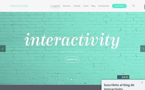 Screenshot of Home Page interactivity.la - Interactivity / Agencia de Marketing Online - captured June 7, 2017