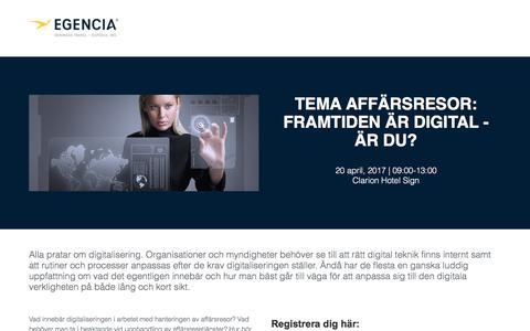 Screenshot of Landing Page egencia.com - Egencia - captured April 26, 2017