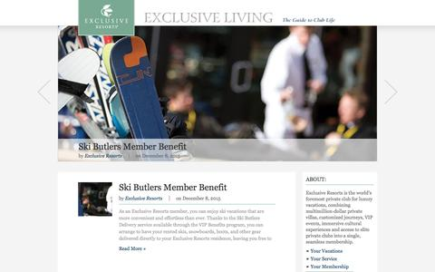 Screenshot of Blog exclusiveresorts.com - Exclusive Resorts Blog - captured Dec. 13, 2015