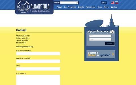 Screenshot of Contact Page albanytula.org - Contact | Albany-Tula Alliance - captured Oct. 4, 2014
