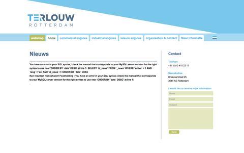Screenshot of Press Page terlouwrotterdam.com - Terlouw Rotterdam - captured Nov. 30, 2016
