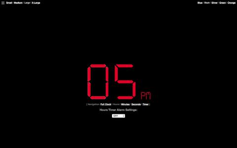 Screenshot of Hours Page onlineclock.net - Hours Clock & Hours Timer - captured Sept. 21, 2018