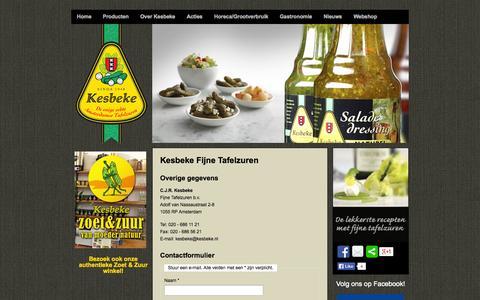 Screenshot of Contact Page kesbeke.nl - Contact - captured Oct. 6, 2014