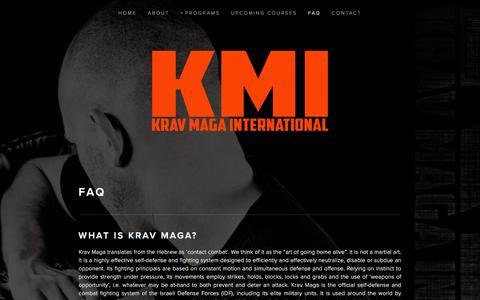 Screenshot of FAQ Page kravmagaintl.com - FAQ — Krav Maga International - captured Jan. 24, 2016