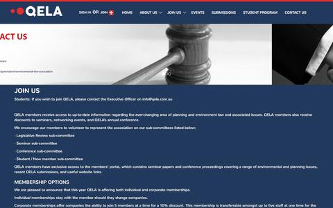 Screenshot of Signup Page qela.com.au - Join Us | Queensland Environmental Law Association - captured Nov. 13, 2016