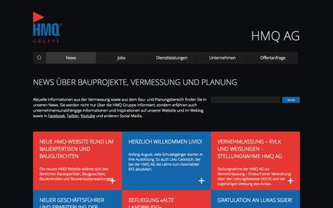 Screenshot of Press Page hmq.ch - News - HMQ AG - captured Oct. 1, 2014