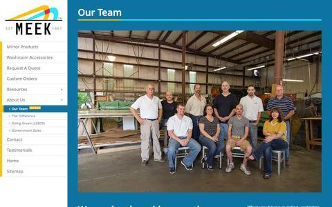 Screenshot of Team Page meekmirrors.com - Meek Mirrors : Leadership Team & Staff - captured Jan. 9, 2016