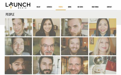 Screenshot of Team Page launchmedia.tv - People | Launch Media | Video Production in Baton Rouge - captured May 15, 2017