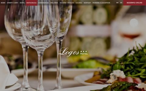 Screenshot of Menu Page hotel-logos.pl - Menu | Hotel Logos Kraków - captured March 12, 2016
