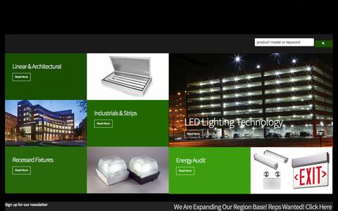 Screenshot of Home Page rleindustries.com - Home | RLE Industries | Energy Efficiency - captured Oct. 9, 2014