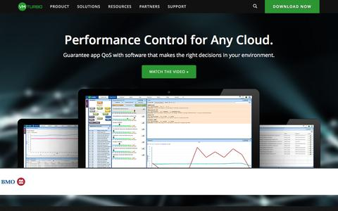 Screenshot of Home Page vmturbo.com - VMTurbo: The Only Application Performance Control System - captured Jan. 18, 2016
