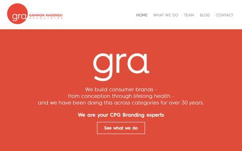 Screenshot of Home Page granewyork.com - Home | GRA - captured Sept. 27, 2018