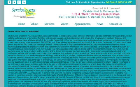 Screenshot of Privacy Page servicemasterservices.com - Service Master Services   –  Privacy Policy - captured Oct. 21, 2018