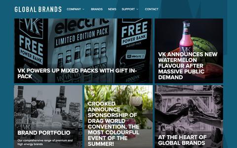 Screenshot of Home Page globalbrands.co.uk - Global Brands - Global Brands - captured Sept. 28, 2018