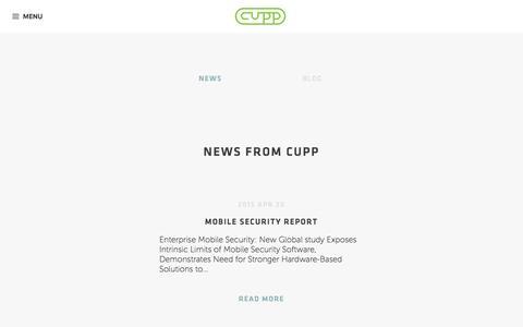 Screenshot of Press Page cuppcomputing.net - News Archives - CUPP ComputingCUPP Computing - captured Dec. 6, 2015