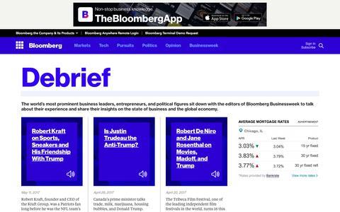 Screenshot of bloomberg.com - Bloomberg - captured June 16, 2017