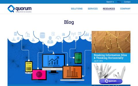 Screenshot of Blog qbsol.com - Quorum Blog - captured Nov. 16, 2016