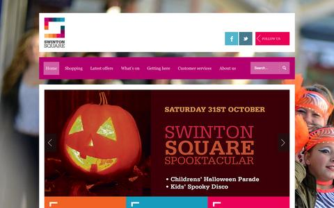 Screenshot of Home Page swintonsquare.co.uk - Swinton Square Shopping Centre - captured Oct. 9, 2015