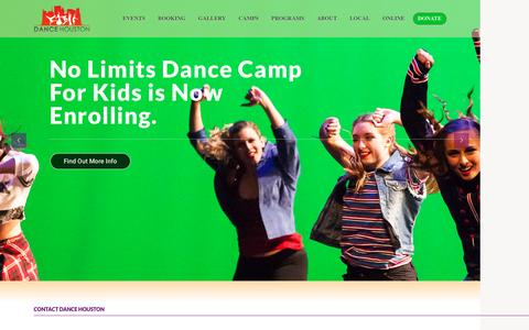 Screenshot of Contact Page dancehouston.org - Contact Us | Dance Houston - captured July 31, 2016