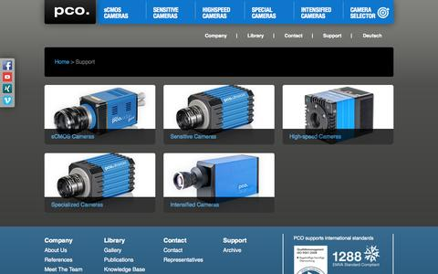 Screenshot of Support Page pco-tech.com - PCO: Support - captured Oct. 2, 2014