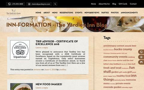 Screenshot of Blog yardleyinn.com - Blog | The Yardley Inn - captured Oct. 2, 2018