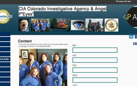 Screenshot of Contact Page coloradoinvestigativeagency.com - Contact/Colorado/CIA Colorado Investigative Agency - captured July 10, 2017
