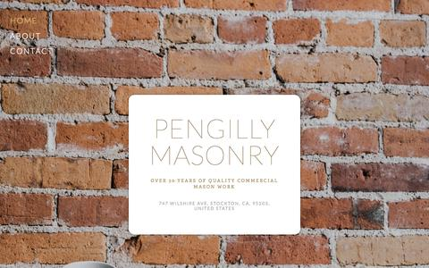 Screenshot of Home Page blockandbrick.com - Pengilly Masonry - captured Sept. 10, 2015