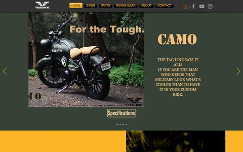 Screenshot of Home Page vardenchi.com - Vardenchi | Motorcycles - captured Sept. 23, 2018