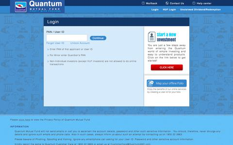 Screenshot of Login Page quantumamc.com - Login - captured Nov. 16, 2019
