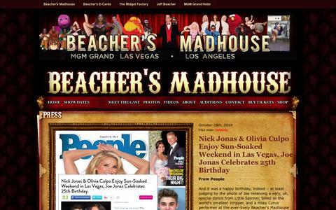 Screenshot of Press Page beachersmadhouse.com - Press : Beacher's Madhouse - captured Oct. 29, 2014