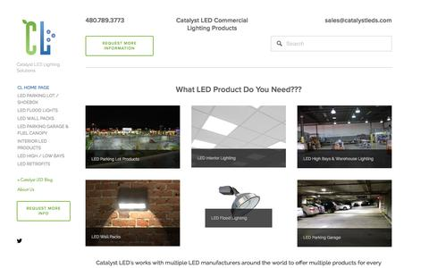 Screenshot of Home Page catalystleds.com - Catalyst LED Commercial Lighting Solutions - captured Sept. 29, 2014