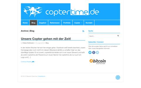 Screenshot of Blog coptertime.de - Blog Archives - Coptertime.de - captured Oct. 3, 2014