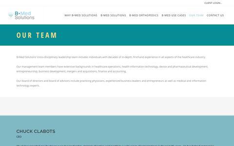 Screenshot of Team Page boundarymedical.com - Our Team - B•Med Solutions - captured June 2, 2017