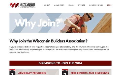Screenshot of Signup Page wisbuild.org - Join the Wisconsin Builders Association — Wisconsin Builders Association - captured Oct. 19, 2018