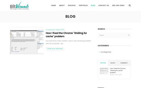 Screenshot of Blog bitvisuals.com - Blog - BitVisuals - Dallas Web Design & Internet Marketing - captured June 1, 2017