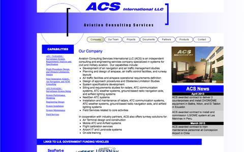Screenshot of Home Page aviation-cs.com - Blank - captured Oct. 4, 2014