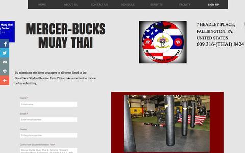 Screenshot of Signup Page mercerbucksmuaythai.com - Sign Up - captured Oct. 27, 2014
