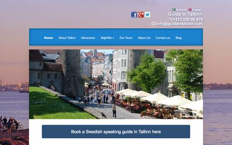 Screenshot of Home Page guideintallinn.com - Book a personal Swedish speaking guide | Guide in Tallinn - captured Sept. 30, 2014