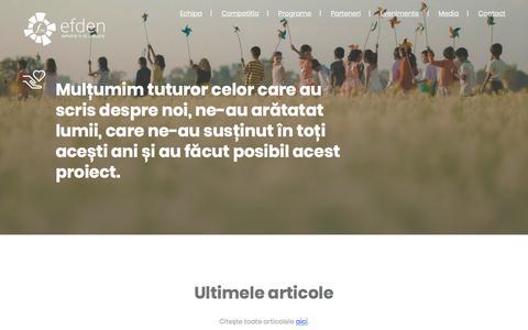 Screenshot of Press Page efden.org captured July 14, 2018